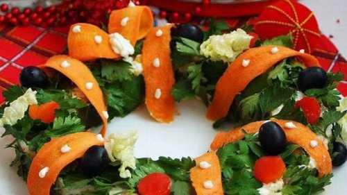 салат с курицей на новогодний праздничный стол